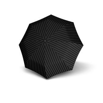 Knirps T.200 Medium Duomatic Automatischer Taschenschirm Men's Prints Gatsby Black