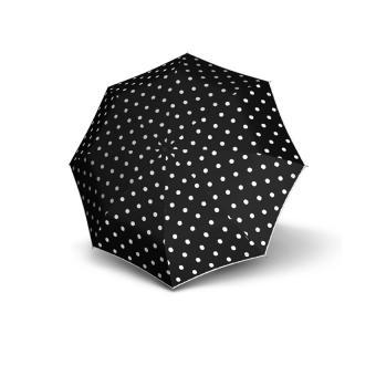 Knirps T.200 Medium Duomatic Automatischer Taschenschirm mit UV-Schutz Dot Art Black