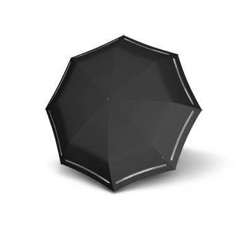 Knirps T.200 Medium Duomatic Automatischer Taschenschirm reflektierend Reflective Black