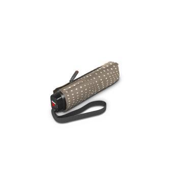 Knirps TS.010 Slim Small Manual Flacher Taschenschirm Bolero Taupe