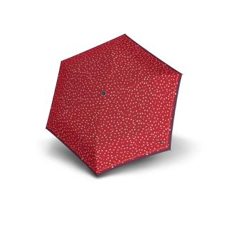 Knirps TS.010 Slim Small Manual Taschenschirm Superthin Design Flakes Red