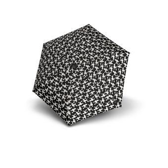 Knirps TS.200 Slim Medium Duomatic Automatischer schmaler Taschenschirm drey black