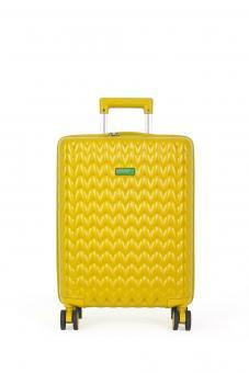 Benetton KNIT Cabin Trolley mit 4 Rollen Gelb
