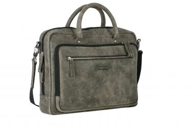 "Leonhard Heyden Boston Leder-Aktentasche 5229 mit Laptopfach 15"" braun"