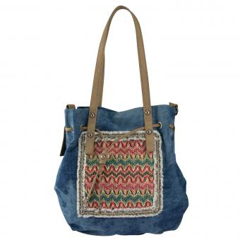 Louiz & Lou Jeans Kiss Beuteltasche Denim