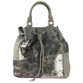 Louiz & Lou Light Up Beuteltasche Silver