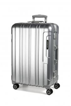 March Cosmopolitan Platinum 4-Rollen-Trolley L silver brushed alu look