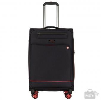 March shorttrack Trolley M 4w erweiterbar black/red