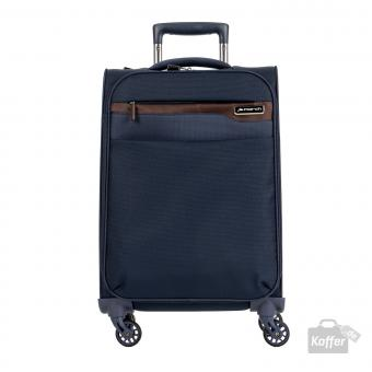 March Lite Trolley S Cabin 4W navy/cognac