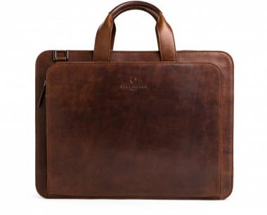 Offermann Businesstasche Men - Workbag 2 Handles Solid Chestnut Brown