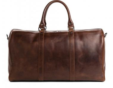 Offermann Duffle Bag Reisetasche Solid Chestnut Brown