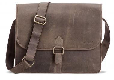 """Packenger Aslang XL Umhängetasche Messenger Bag 15"""" Grau"""