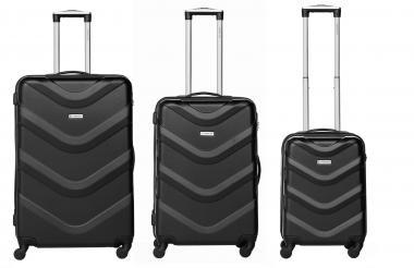 Packenger Brooklyn Bannisters Koffer 3er-Set Schwarz