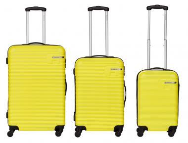 Packenger Hudson Bannisters Koffer 3er-Set Pastell Gelb