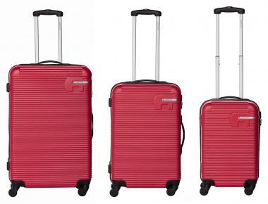Packenger Hudson Bannisters Koffer 3er-Set Weinrot