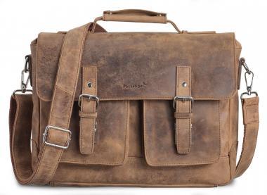 """Packenger Kolbjorn Umhängetasche Messenger Bag 15"""" Muskat-Braun"""