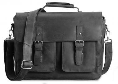 """Packenger Kolbjorn Umhängetasche Messenger Bag 15"""" Schwarz"""