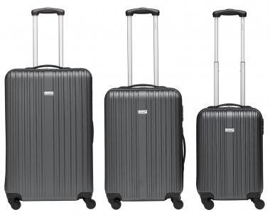 Packenger Line Koffer 3er-Set M, L + XL Dunkelgrau