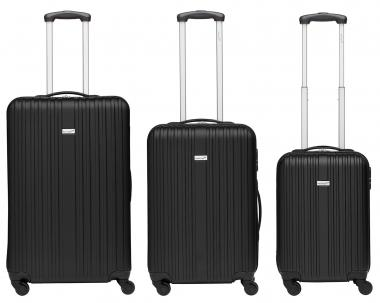 Packenger Line Koffer 3er-Set M, L + XL Schwarz