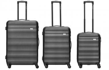 Packenger Timber Koffer 3er Set Schwarz