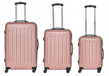 Packenger Travelstar Koffer 3er-Set M, L + XL Mauve