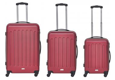 Packenger Travelstar Koffer 3er-Set M, L + XL Rot