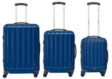 Packenger Velvet Hartschalenkoffer 3er-Set Dunkelblau
