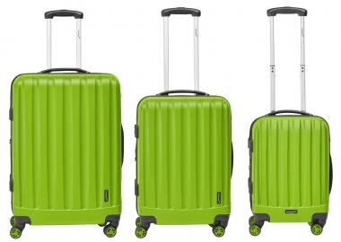 Packenger Velvet Hartschalenkoffer 3er-Set Grün