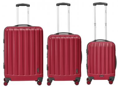 Packenger Velvet Hartschalenkoffer 3er-Set Rot