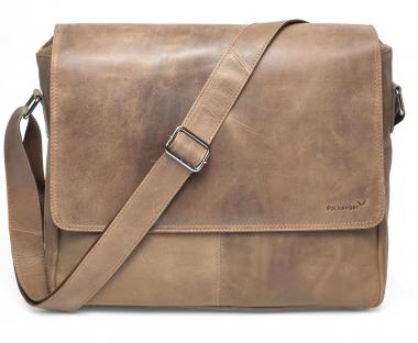 """Packenger Vethorn Umhängetasche Messenger Bag 15"""" Hellbraun"""