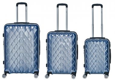 Packenger Atlantic Set 3-tlg. 4 Rollen, Trolley M / L / XL  52-68-76 cm blau