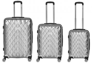 Packenger Atlantic Set 3-tlg. 4 Rollen, Trolley M / L / XL  52-68-76 cm silber