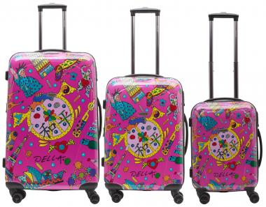 Packenger One World by Della Koffer 3er-Set Pink