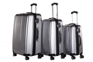 Packenger Stone Koffer 3er-Set M, L + XL Silber