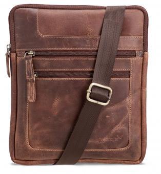 Packenger Thuras Umhängetasche mit Tablet-Fach Vintage-Braun