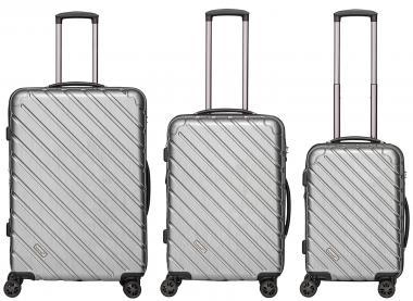 Packenger Vertical Koffer 3er-Set Silber Metallic