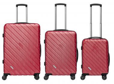 Packenger Vertical Premium Koffer 3er-Set M, L + XL Rot Metallic