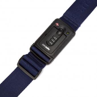 pacsafe Strapsafe 100 Gepäckband mit TSA-Schloss Blau