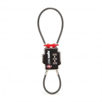 pacsafe Travel Accessories TSA 3-Zahlen-Kombinationsschloss mit zwei Kabeln Schwarz