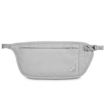 pacsafe Coversafe V100 RFID-blockierende Taillen-Geldtasche Neutral Grey
