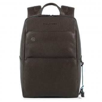 """Piquadro Black Square Laptop-Rucksack 13.3"""" mit Tabletfach und CONNEQU-Anhänger braun"""