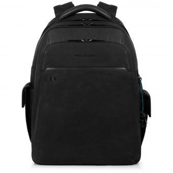 """Piquadro Black Square Laptoprucksack 15"""" mit CONNEQU-Anhänger schwarz"""