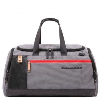 Piquadro Blade Reisetasche mit Trolley-Schlaufe grau