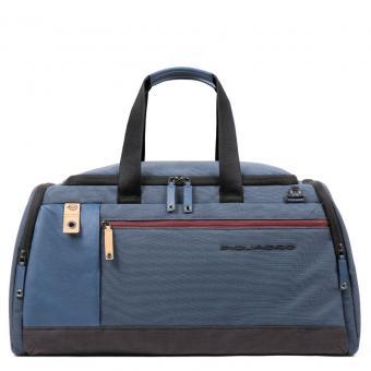 Piquadro Blade Reisetasche mit Trolley-Schlaufe stahlblau