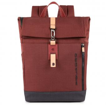 "Piquadro Blade Roll-Top Laptoprucksack 15.6"" rot"