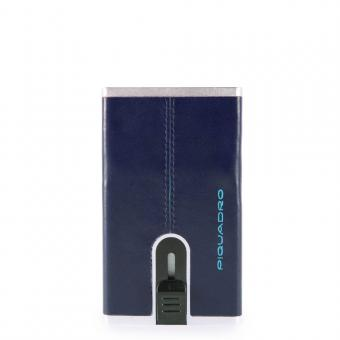 Piquadro Blue Square Compact Wallet für Scheine und Kreditkarten Nachtblau
