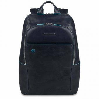 Piquadro Blue Square Laptoprucksack mit gepolstertem Tablet-Fach Blau