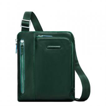 """Piquadro Blue Square Umhängetasche mit iPad Air/Pro 9,7"""" Fach verde foresta"""