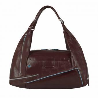Piquadro Blue Square Tasche Rucksack Portabilität Mahagoni