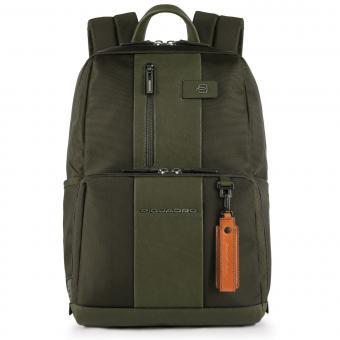 """Piquadro Brief Laptoprucksack 14"""" mit CONNEQU-Tasche grün"""
